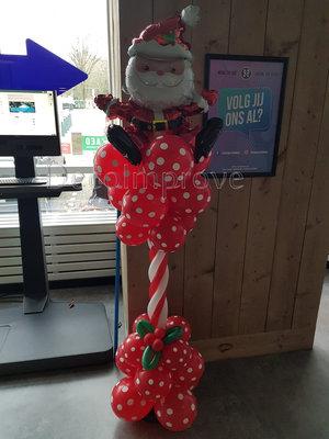 Ballonnenpilaar Luxe Kerstman met Maretak