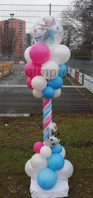 Ballonnenpilaar Luxe Frozen Bubble