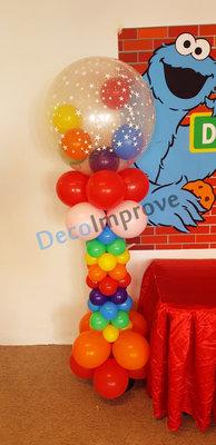 Ballonnenpilaar Deluxe Regenboog