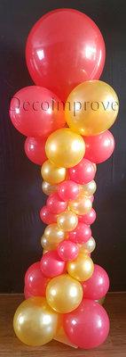 Ballonnenpilaar Deluxe Rood Goud