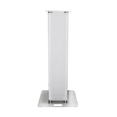 Showtec Truss Tower 1,5m voor Moving Heads Verticale Truss Pilaar met Wit Spantex Sleeve