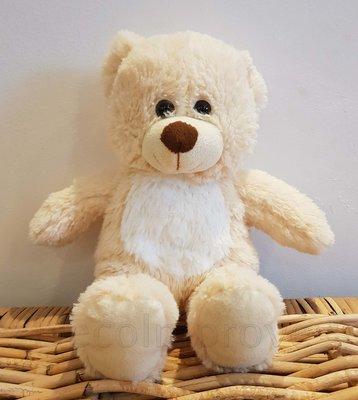 Teddybeer Zittend Knuffel Beige Zacht 30cm Verhuur