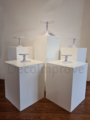 Vierkante Zuilen Wit Set van 5 Verhuur