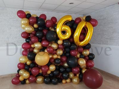 Organic Chique 60 jaar Ballonnenwand 2x2.5m