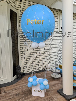Blauw Goud met Persoonlijke Bedrukking Luchtballon