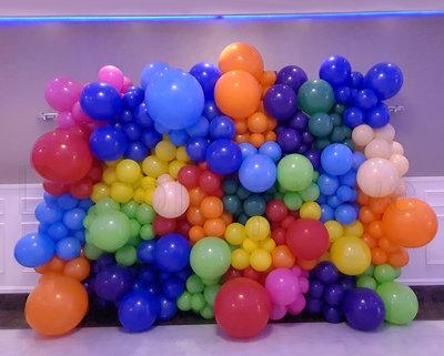 Kleurrijk Organic Ballonnenwand