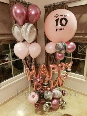 Sweet Happy Birthday Collage Luxe Ballondecoratie
