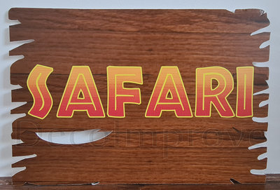 Foamboard Hout 'Safari' Verhuur