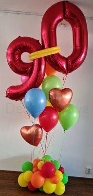 Regenboog Collage 90 jaar Helium Ballonnenboeket