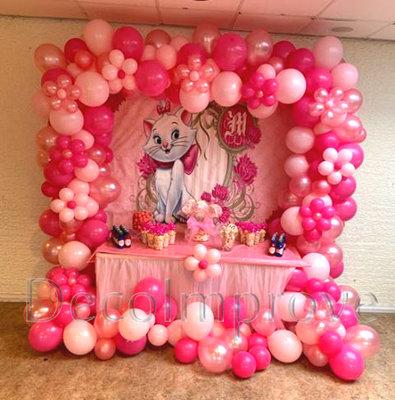 Ballonnenboog Flowery Pink Vierkant Organic
