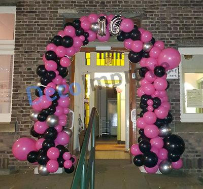 Ballonnenboog Hot Pink Sweet 16 Organic