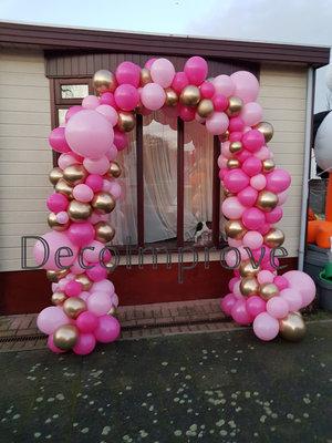 Ballonnenboog Roze Organic