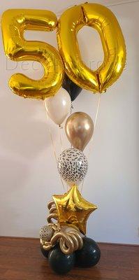 Panterprint, Zwart en Goud Collage 50 Jaar Helium Ballonnentros