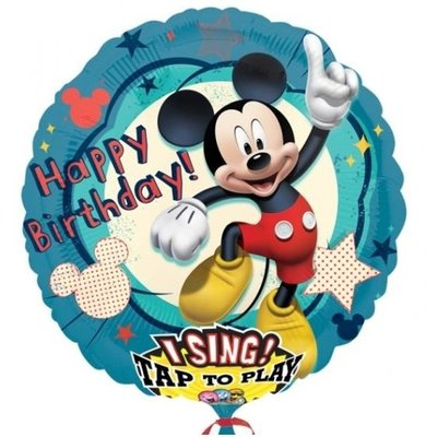 Mickey Mouse Sing-A-Tune XL Folie Ballon 71cm