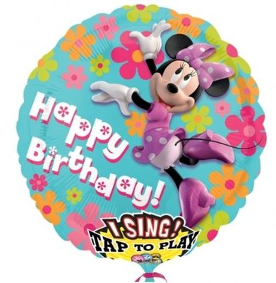 Minnie Mouse 'Happy Birthday' Sing-A-Tune XL Folie Ballon 71cm