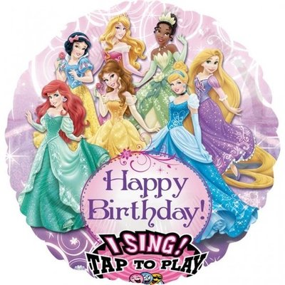 Prinsessen Sing-A-Tune XL Folie Ballon 71cm