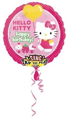 Hello Kitty 'Happy Birthday' Sing-A-Tune XL Folie Ballon 71cm