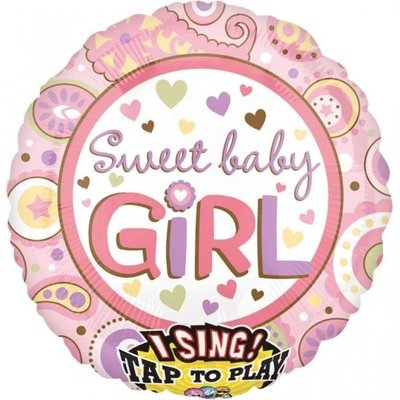 Sweet Baby Girl Sing-A-Tune Folie Ballon 71cm