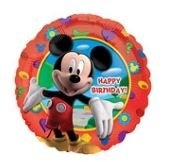 Ballonnenpost Mickey Mouse Clubhuis 'Happy Birthday' Folie Ballon 45cm