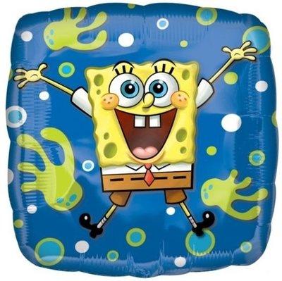 Ballonnenpost Spongebob Squarepants Blije Vierkante Folie Ballon 45cm