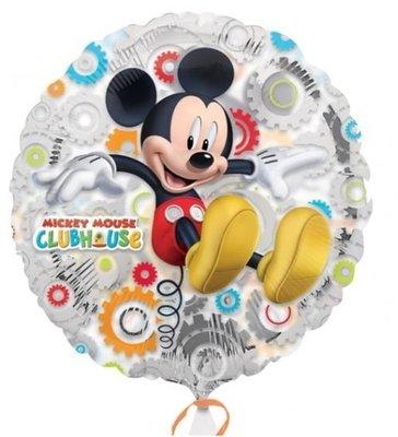 Ballonnenpost Mickey Mouse Clubhuis Transparante Metallic Folie Ballon 45cm