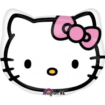 Ballonnenpost Hello Kitty Hoofd JuniorShape Folie Ballon 43cm