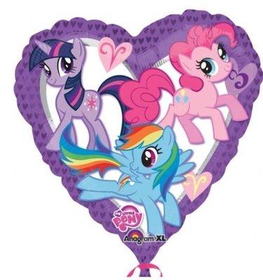 Ballonnenpost My Little Pony Hart Folie Ballon 45cm