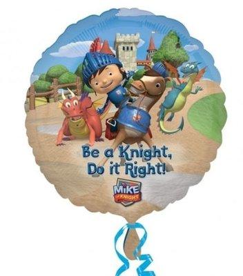 Ballonnenpost Mike de Ridder 'Wordt een ridder' Folie Ballon 45cm