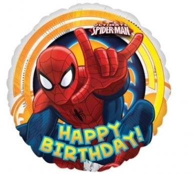 Ballonnenpost Ultimate Spiderman 'Happy Birthday Folie Ballon 45cm