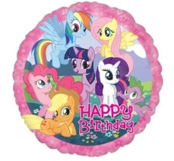 Ballonnenpost My Little Pony 'Happy Birthday' Folie Ballon 45cm