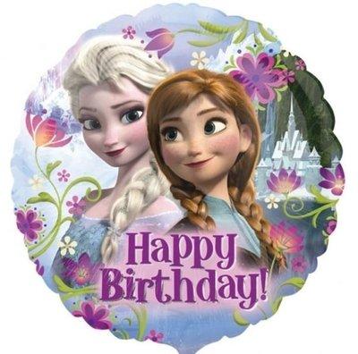 Ballonnenpost Frozen Happy Birthday Folie Ballon 45cm