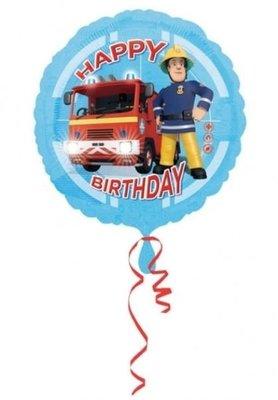 Ballonnenpost Brandweerman Sam 'Happy Birthday' Folie Ballon 45cm