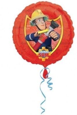 Ballonnenpost Brandweerman Sam Folie Ballon 45cm