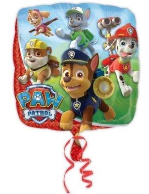Ballonnenpost Paw Patrol Vierkante Folie Ballon 45cm
