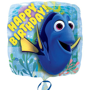 Ballonnenpost Finding Dory 'Happy Birthday' Vierkant Folie Ballon 45cm