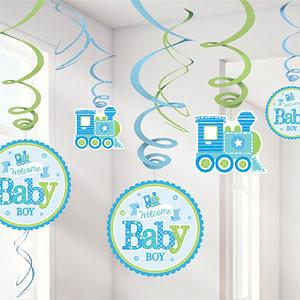 Welkom Baby Jongen Hangkrullen 12st