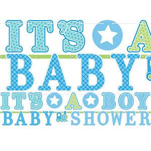 Welkom Baby Jongen 'It's A Baby Boy Babyshower' Letter Slinger 2st