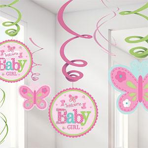 Welkom Baby Meisje Hangkrullen 12st