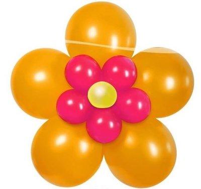 DIY Bloem Oranje Ballondecoratie Kit Doe het Zelf Pakket