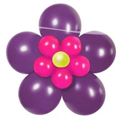 DIY Bloem Paars Ballondecoratie Kit Doe het Zelf Pakket
