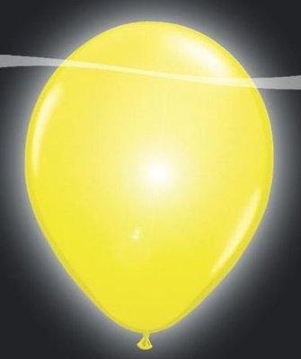 Ballonnen met LEDverlichting Latex Geel 5st