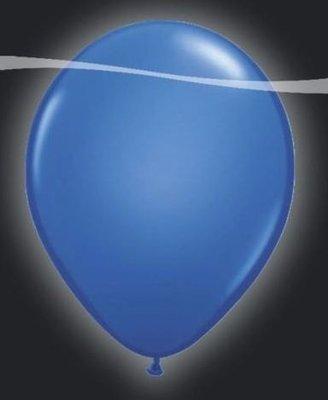 Ballonnen met LEDverlichting Latex Licht Blauw 5st
