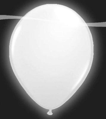 Ballonnen met LEDverlichting Latex Wit 5st