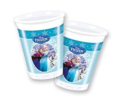 Frozen Schaatsen Plastic Bekers 8st