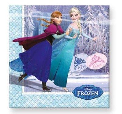 Frozen Schaatsen Tafel Servetten 20st