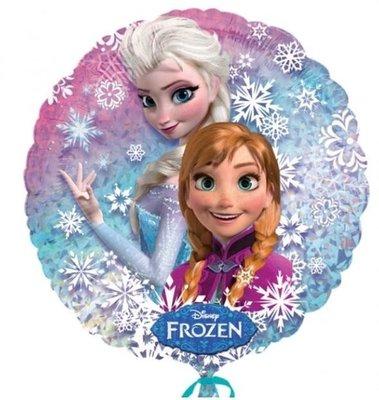Frozen Anna en Elsa Sneeuw Holografische Ballon 45cm