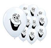 Frozen Olaf Gezichtje Latex Ballonnen 100st