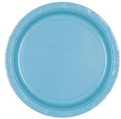 Caribisch Blauw Papieren Borden 8st
