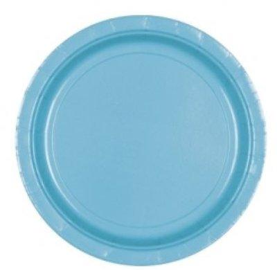 Caribisch Blauw Papieren Dessert Borden 8st