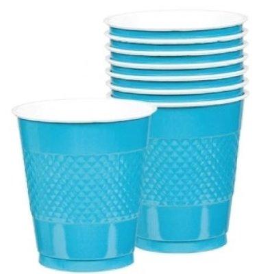 Caribisch Blauw Plastic Bekers 20st